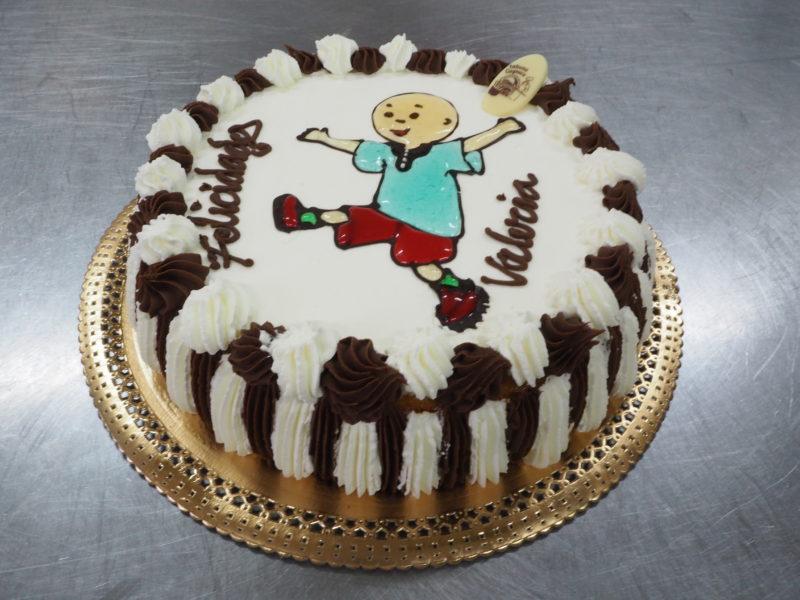 Tarta dibujada a mano